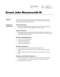 Engineering Resume Examples Engineering Stunning Resume Examples For Sound And Audio Engineer 62