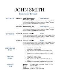Printable Resume Template - Resume Templates