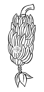 Small Picture Banana Tree fruit coloring page for kids fruits coloring pages