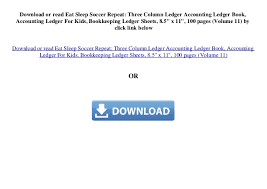 Bookeeping Ledger Eat Sleep Soccer Repeat Three Column Ledger Accounting Ledger Book