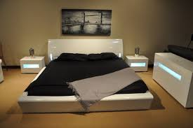 modern platform bed with lights. Orca Contemporary Platform Bed W/ Lights Contemporary-bedroom Modern With