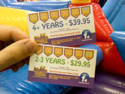 Discount Punch Card Prepaid Discount Punch Cards For Open Jump Kiddo Kingdom