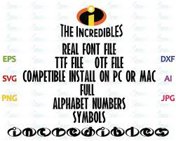 Office Design Program Gorgeous Incredibles Font File Ttf File Otf File Compatible Install Etsy