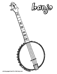 Small Picture Country Music Banjo Coloring Pages free downloads coloring