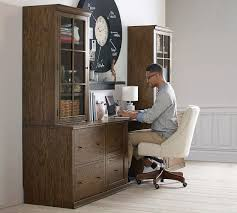 pottery barn file cabinet. Logan Office Suite With File Cabinet Hewn Oak Pottery Barn Throughout Inspirations 19
