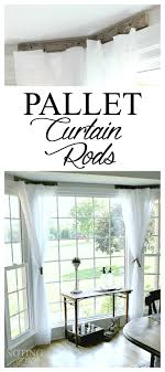 Pallet Curtain Rods - My 30-Minute Solution | Noting Grace
