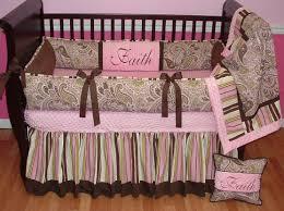 charming baby nursery room design using paisley baby girl bedding lovely girl baby nursery room