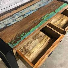 industrial wood furniture. Industrial Wood Console Table Furniture O