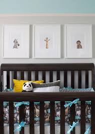 baby animal art over crib