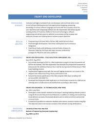 Web Developer Resume Example Resume Template Front End Developer Resume Sample Free Career 2