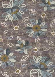 jaipur brio daisy chain hand tufted fl pattern polyester gray blue area rug