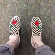 gucci vans custom. custom embroidered checkered vans gucci s