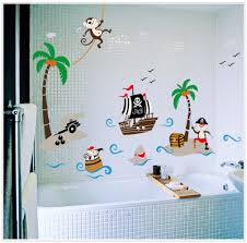 kids bathroom wall decor. Scenery Coconut Palm Deer Wall Stickers For Kids Rooms Living Room Bedroom Bathroom Decals Decor H