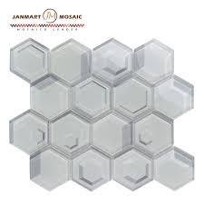 foshan factory metallic crystal glass mosaic tile