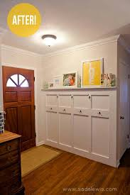 Front Door Coat Rack Interesting Reader Redesign Blank Wall To Big Welcome Laundry RoomMud Room