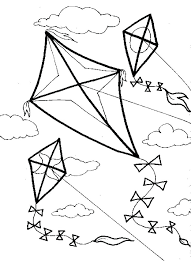 Coloring Pages Of Flying Kites Kite For Coloring Kite Coloring Page