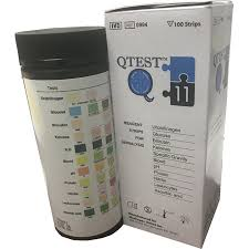 Urinalysis Reagent Strips Chart Qtest 11 Parameter Urinalysis Strips 100ct Urine Strips For Testing Urinary Tract Infection Uti Glucose Ph Protein Ketone And More For