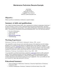 Maintenance Job Resume Objective Resume Objective Statement Examples For Maintenance Therpgmovie 5