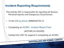 Air Force Incident Report Form Incident Report Form Joint