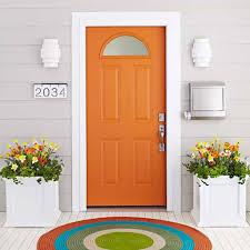 Orange Painted Exterior Front Door - Ways To Paint Your Exterior ...