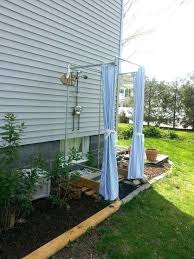diy outdoor shower ideas outdoor shower enclosure ideas with outdoor shower stall with galvanized pipes and