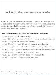 Sample Resume For Medical Receptionist Here Are Medical Manager