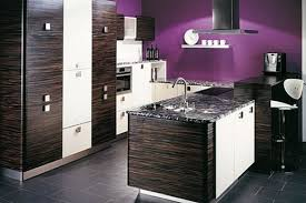 Purple Kitchen Stunning Kitchen Design With Black Cabinet And Ceramic Floor