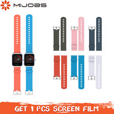 Mijobs <b>20mm Sports Silicone Wrist</b> Strap for Xiaomi Huami Amazfit ...