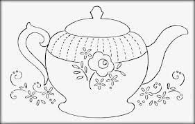 Small Picture Decorative teapot coloring pages download and print for free