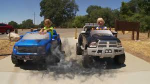 Power Wheels Truck Race - Dodge Ram vs Ford-150 Raptor - YouTube