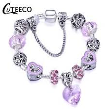 BISAER 7Pcs 925 Sterling Silver Heart Key And Locket Heart ...
