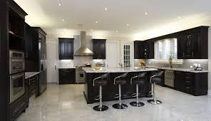 modern white and black kitchen. Dark Kitchens With Wood Black Kitchen Cabinets White Tile Floor Istock  Medium Spacious Modern Cabinetry Breakfast Modern White And Black Kitchen