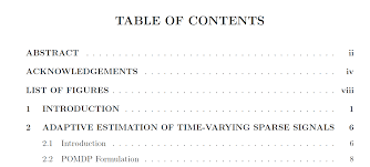 formatting table of contents modification how to change fonts  table of contents sample figure