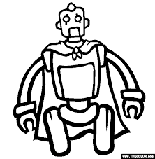 Small Picture Tom The Robot Coloring Page Free Tom The Robot Online Coloring