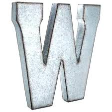 w large galvanized metal letter big letters rustic