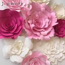 Paper Flower Business 2019 Joy Enlife 20cm Diy Paper Flowers Kids Birthday Party Backdrop