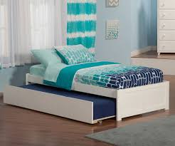 urban lifestyle concord platform bed with trundle in white