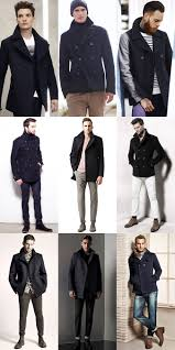 men s pea coats outfit inspiration lookbook