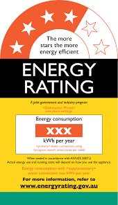 labelling energy rating dishwashers