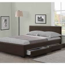 Details about 4 DRAWERS LEATHER STORAGE BED DOUBLE OR KING SIZE BEDS + MEMORY MATTRESS CHEAP