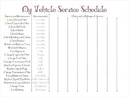 Service Record Template Excel Printable Mileage Log Vehicle