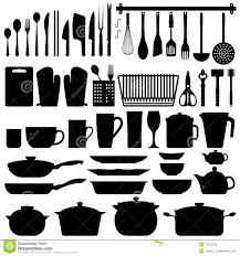 kitchen utensils silhouette vector free.  Vector Kitchen Utensils Silhouette Vector For Free N