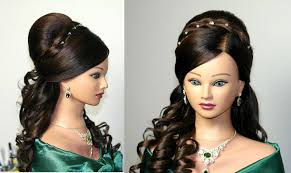 You Tube Hair Style curly wedding prom hairstyle for long hair youtube 4601 by wearticles.com
