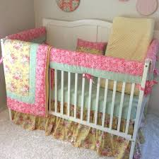 shabby chic crib bedding baby girl crib bedding set c mint and yellow fl shabby chic crib bedding