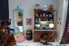 writing desk and mirror childrens pirate bedroom themed interior 2