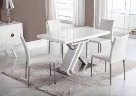 Acheter Votre Table Moderne Pied Central Croix Laquée Blanche Chez