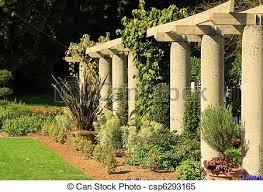 garden columns. Simple Garden Garden Columns  Csp6293165 With Can Stock Photo