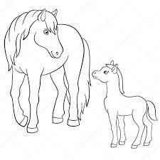 Kleurplaten Van Paarden Met Veulen Intended For Kleurplaat Paard En