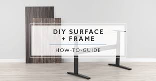 how to pair diy surface and standing desk frame