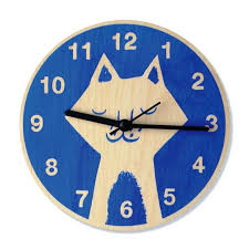 fun wall clocks cute and colorful wall mount clocks for kids bedroom wooden wall clock for